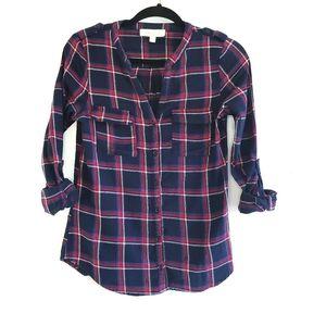 Olive & Oak Plaid Flannel Button Down Shirt